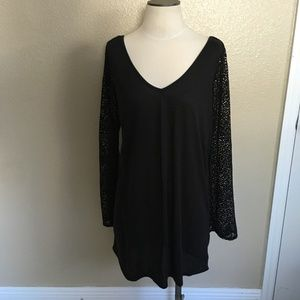 Roxy Swim Cover Up/ Top Lace Bell Sleeves Sz L